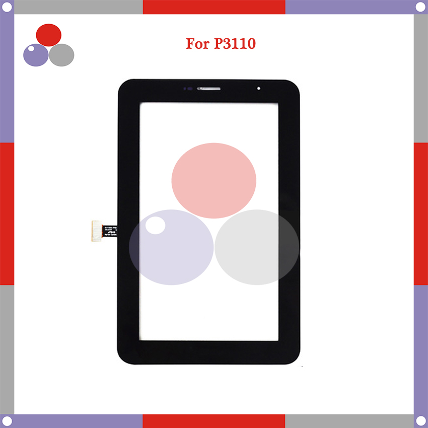10 pcs/lot 7 pouces pour Samsung Galaxy Tab 2 7.0 P3110 écran tactile numériseur capteur avant extérieur verre lentille panneau