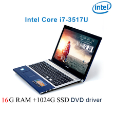 """P8-28 black 16G RAM 1024G SSD i7 3517u 15.6 gaming laptop DVD driver keyboard and OS language available for choose"""""""
