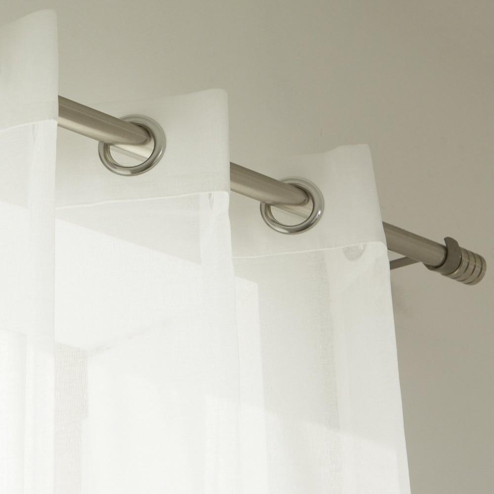 Organza Vorhänge für Wohnzimmer Feste Farben Sheer home Moderne - Haustextilien - Foto 5