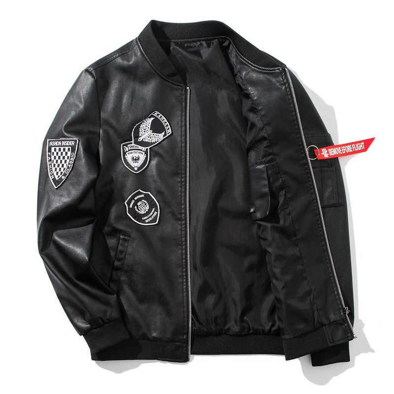 Robmoda/модные брендовые Куртки из искусственной кожи; сезон зима-осень; куртка-бомбер; Мужская Уличная одежда в стиле Харадзюку в стиле хип-хоп; Верхняя одежда для мотоциклистов