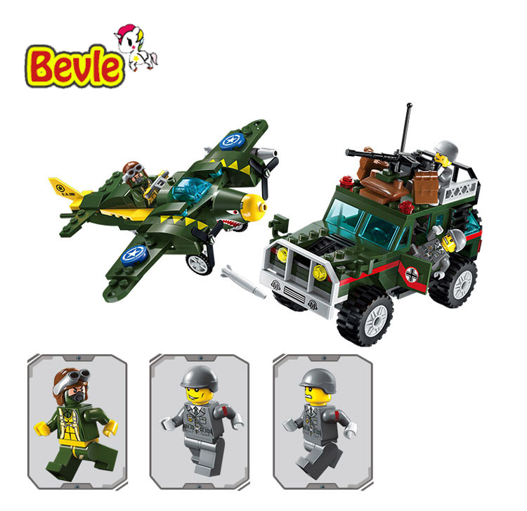 Enlighten 1707 Military Series Fighter War Air Strikes Building Block Figures SWAT Toys