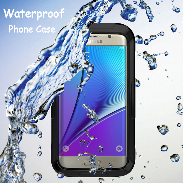 low priced 7161e 4e1cb US $10.34 5% OFF|Waterproof Case For Samsung Galaxy S8 plus S7 Edge Hybrid  Swimming Dive Shockproof Cover Outdoor Phone Cases for Samsung Note 8-in ...