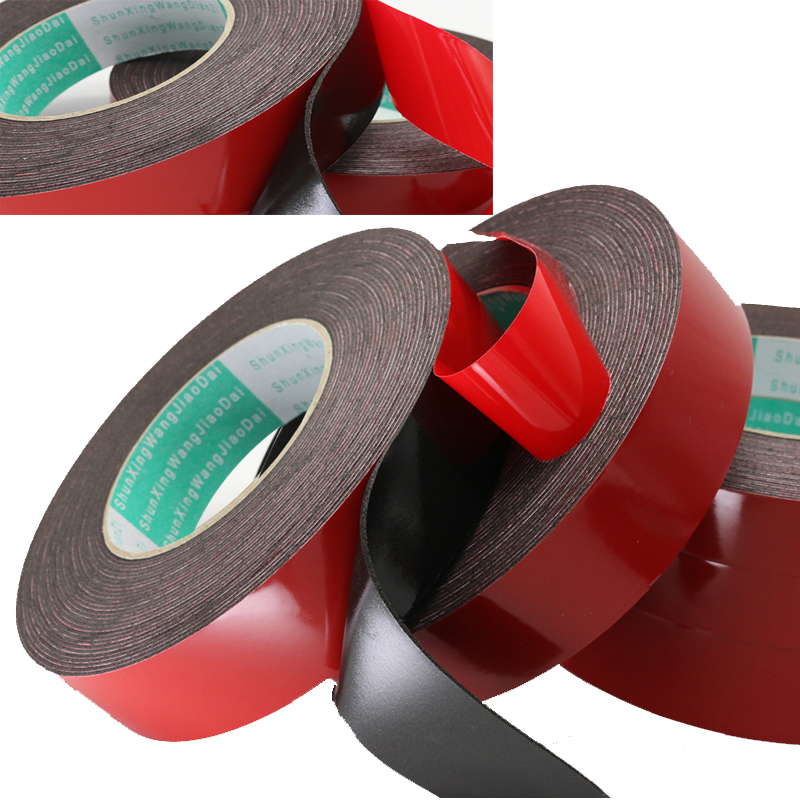 Double Sided Foam Tape White /& Black 1mm,2mm and 3mm in various widths