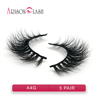 5 Pair 100 Real Mink 3D Cross Thick False Eye Lashes Makeup Super Natural Long Fashion