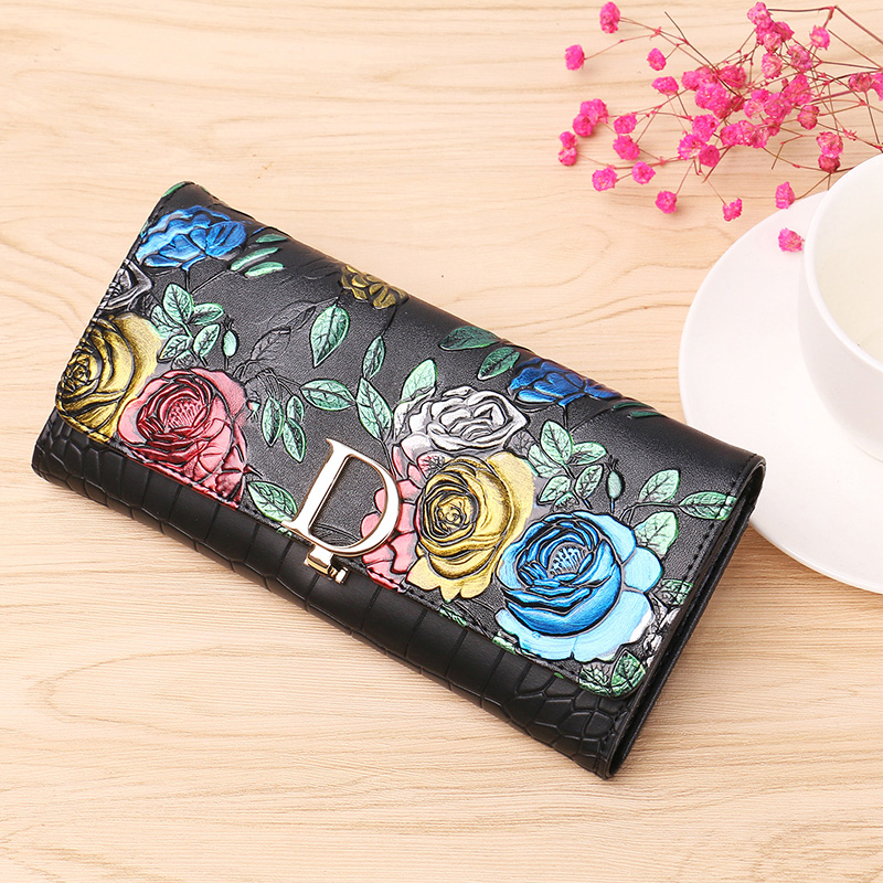 Hot Sale Women Clutch 2018 New Wallet Split Leather Wallet Female Long Wallet Women Zipper Purse Strap Coin Purse For iPhone 8 new women fashion leather hasp tri folds wallet portable multifunction long change purse hot female coin zipper clutch for girl