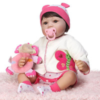 55cm Silicone Reborn Baby Doll Kids Playmate Gift For Girls 21 Inch Baby Alive Soft Toys