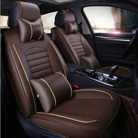 Car Travel Front + Rear Leather car seat covers For Geely Renault Clio Sandero BYD F6 F3 Peugeot auto accessory car styling