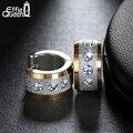 Effie queen preço de fábrica de aço inoxidável brincos pendientes jóias 2016 mulheres ou homens punk rock brincos de argola redonda ie01