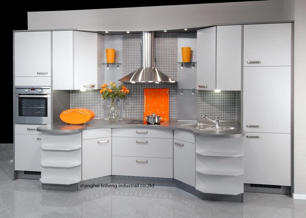 Melamine/mfc Kitchen Cabinets(LH-ME072)