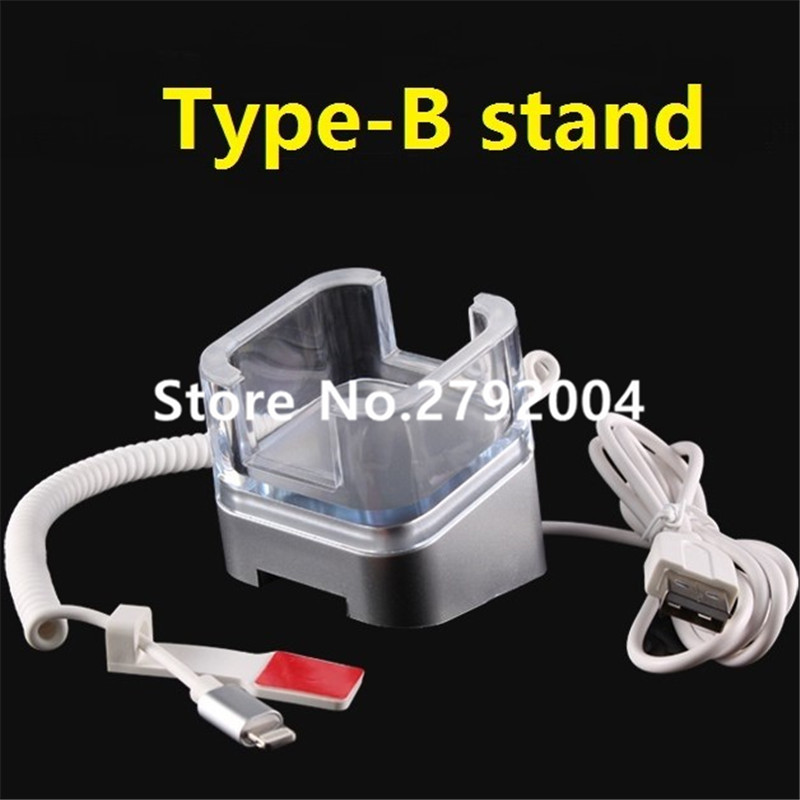 10 USB ports security system for Mobile shop decoration anti-theft alarm cell phone display stand