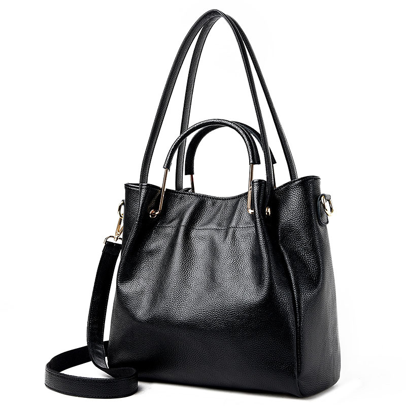 New Large Genuine Leather Women Handbag Ladies Purse Female Shoulder Crossbody Tote Bag Women Messenger Bag Bolsa Feminina aelicy women fashion handbag crack shoulder bag large tote ladies purse messenger bag solid bag bolsa feminina bags women 0829