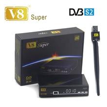 5 pc/lot V8 Super DVB-S2 Satellite TV Récepteur Avec USB Wifi soutien PowerVu Biss Key Cccamd Newcamd Youtube décodeur Set Top boîte