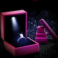 LED Jewelry Box Rubber Painting LED Light Jewelry Box Ring, Bracelet, Pendant Box Purple Jewellery Box