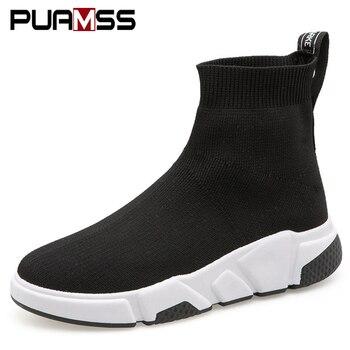 Women Flats Shoes Sneaker for Women Fashion Comfortable Socks Shoes 2019 New Female Footwear Black Casual Shoes Zapatos De Mujer