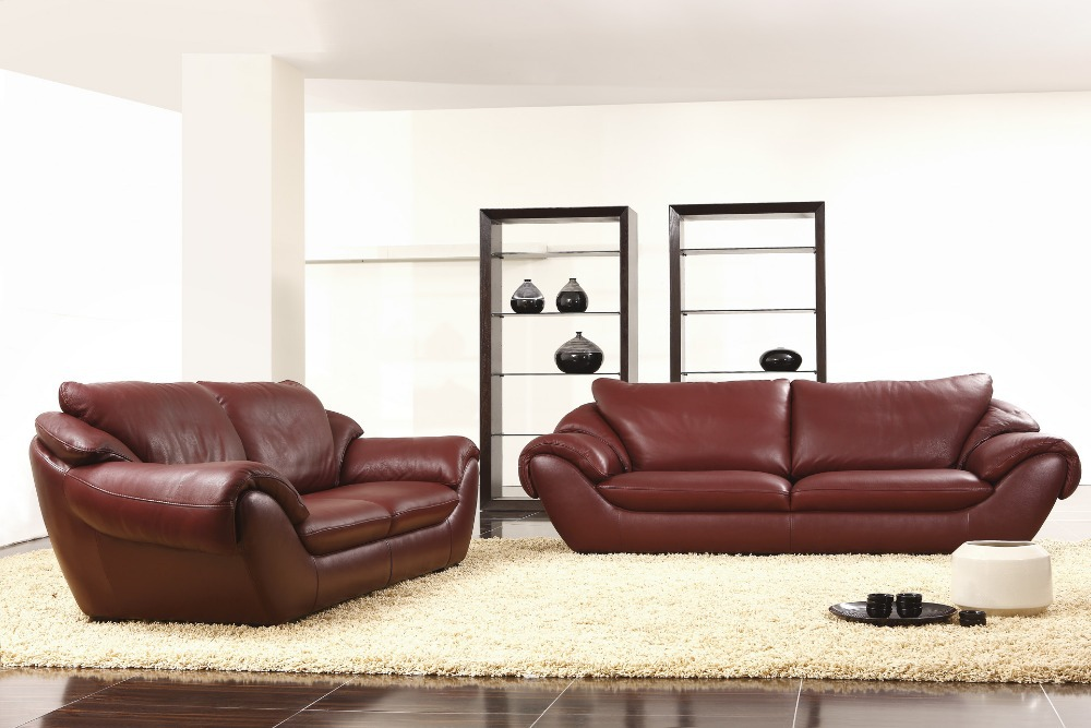 2+3 seat/lot genuine leather modern leisure combinational wood cheers living room sofa set couch home furniture image