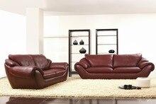 2 + 3 assento / lot couro genuíno modern lazer combinacional madeira felicidades sala conjunto de sofá sofá home móveis