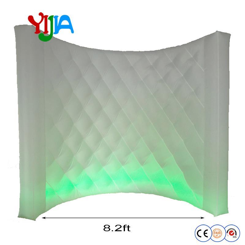 Diamond Shape White 8 2 ft Inflatable Backdrop Wall Portable Photo booth Backdrop Wall Outside Inside