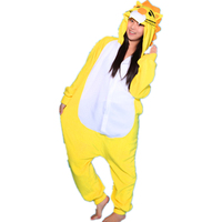 2017 heißer Japan Anime Tier Pyjamas Yellow Lion jumpsuit Cosplay Kostüm Frauen Löwin Pyjama-party Erwachsene Onesie