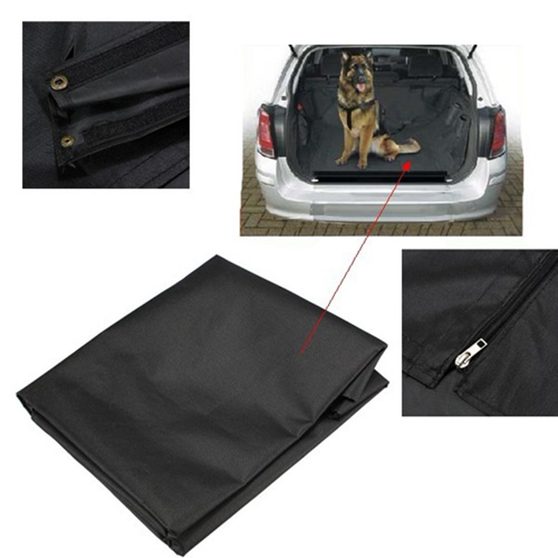 Rubber floor mats for dogs - Black Universal Waterproof Car Boot Protector Liner Dog Pet Floor Mat Cover Seat Large Size