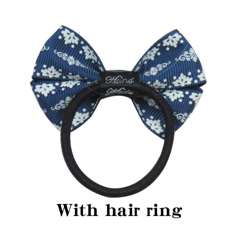 1PCS ใหม่ Trumpetflower ยืดหยุ่นวงผมสาวคลิปริบบิ้นสาวโบว์ผมเชือก Hairpin Handmade แฟชั่นอุปกรณ์เสริมผม