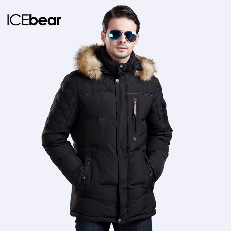 ICEbear Hot Sale Long Winter Men Clothing Outwear Casual Jacket And Cotton Parkas Male Big Napapijri Coat 15M927D