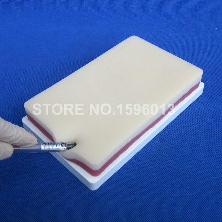 Täiustatud 3-kihiline õmbluspraktika pad, naha, rasva ja lihaste õmblusmudel