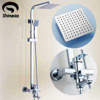 浴室雨スタイルシャワーシステムセット蛇口浴槽とハンドヘルドスプレーミキサータップ
