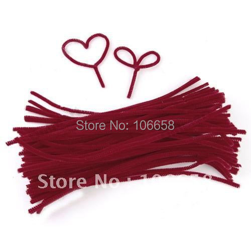 100pcs 300mm x 6mm  Chenille Stems Pipe Twisting rod Children Handmade Education 2#