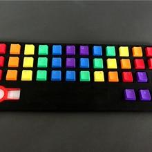 Новое поступление PBT 37 ключ Double shot Rainbow OEM MX переключатели Keycaps подсветка колпачки для проводной USB механическая клавиатура