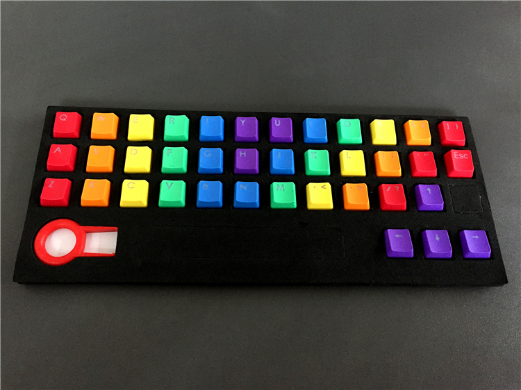 New Arrival PBT 37 Key Double Shot Rainbow OEM MX Switches Keycaps Backlight  Keycaps For Wired USB  Mechanical Keyboard