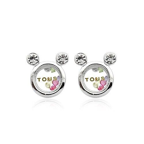 Italina Brand Plated White Gold Stud Earring Austrian Crystal Cute TOU Bear Stud Earrings For Women brinco 86142