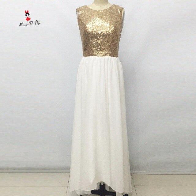 Vestido de Festa de Casamento Silver Gold Sequin Bridesmaid Dress ...