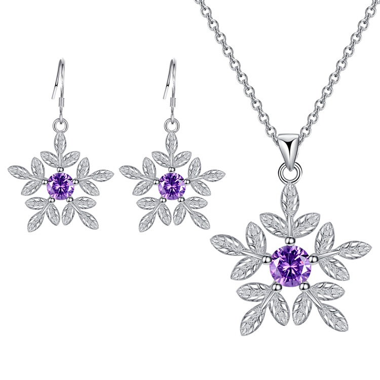 Buy Wholesale Free Shipping Silver Plated Fashion Jewelry Necklace Earrings Set