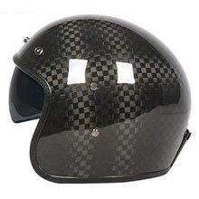 Высокий уровень carbonfiber мотоциклетный шлем с внутренним черные очки dot ЕЭК Утверждено Джет шлем cfr YK363 3 К 12 К 24 К