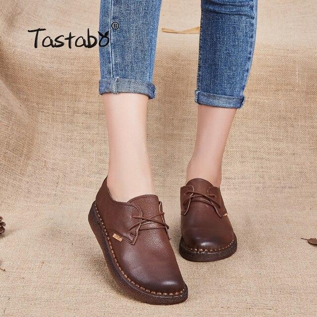 ac9c234899e Tastabo nuevo hecho a mano zapato 2017 mocasines de las mujeres zapatos  casuales zapatos de trabajo zapatos de conducción zapatos de las mujeres  planos de ...