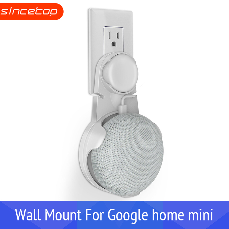 Wall Outlet Mount Holder Hanger Stand For Google Home Mini Voice Assistants Tool