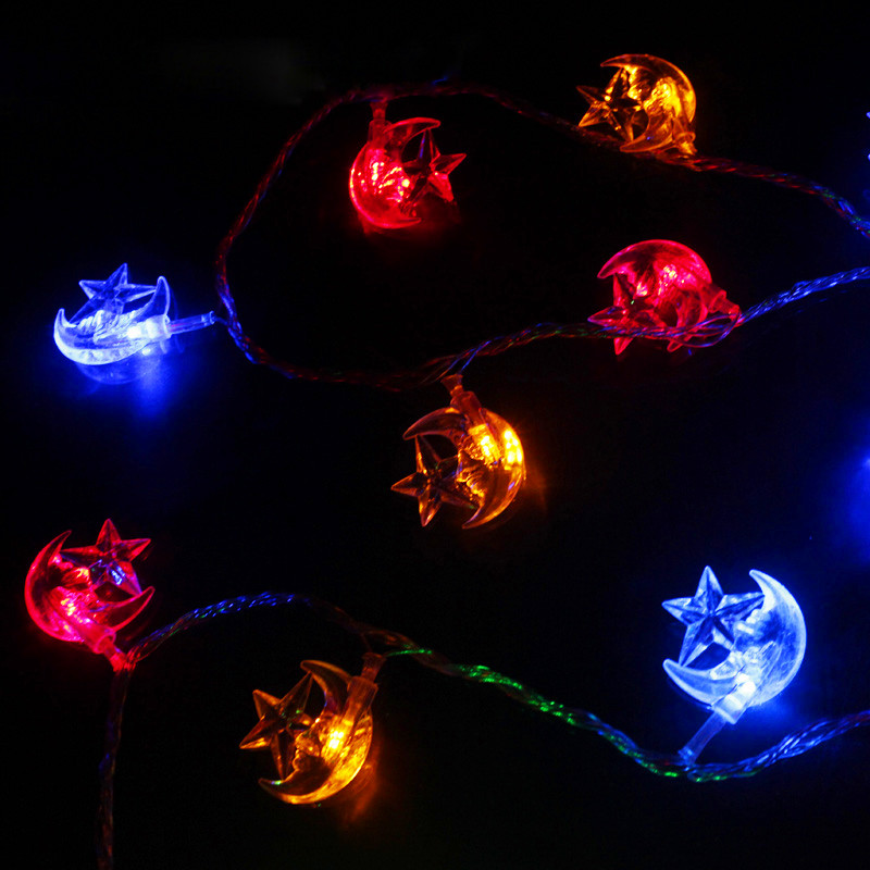 Fairy 30m 300 Bulbs guirlande lumineuse LED string lights wedding Christmas Moon star decoration Garland outdoor lighting