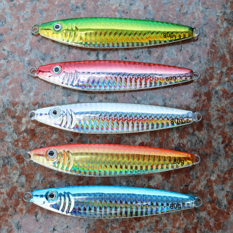 15pcs/lot S-shape Deep Sea Fishing Lure Lead Fish Jig 30g 40g 60g 80g 100g Luminous Belly Hard Bait Fishing Lure without Hook