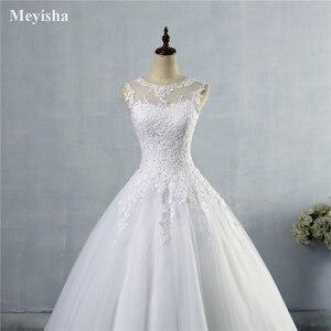 Image 5 - ZJ9036 2019 2020 Кружева Белый Кот строки свадебные платья для невесты платье Винтаж Большие размеры клиент сделал размер 2  28 W