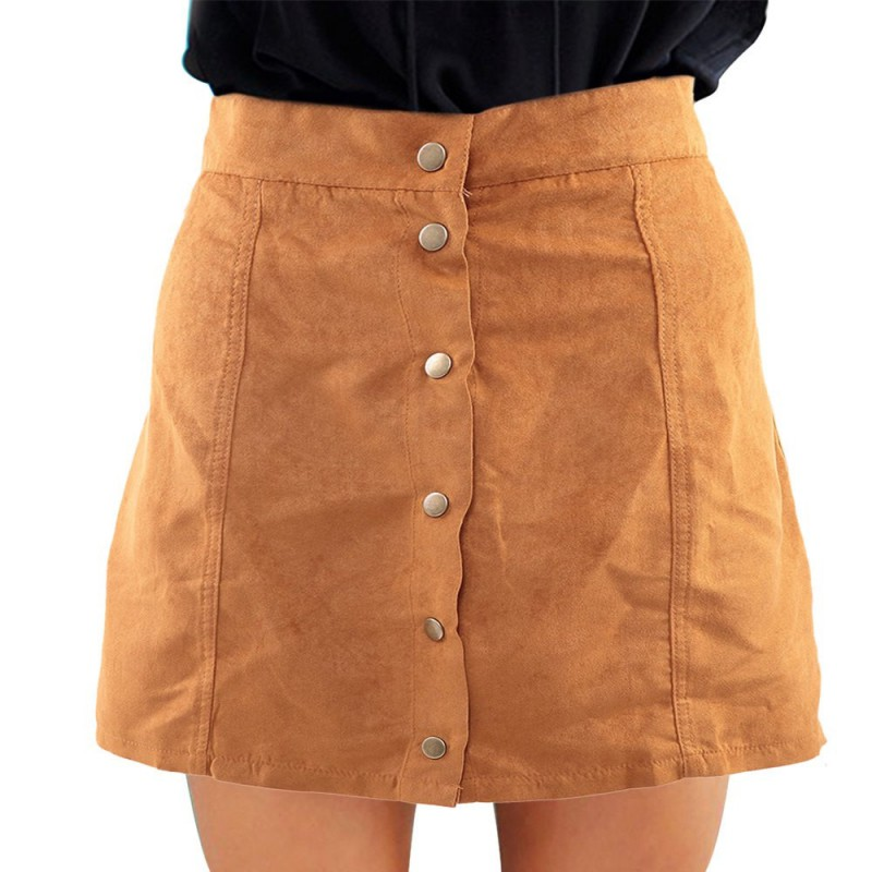 Aliexpress.com : Buy Women Skirts Sexy Faux Suede Skirt Vintage A ...