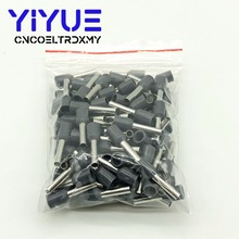 цена на E2512 Tube insulating terminals 2.5MM2 100PCS/Pack Insulated Cable Wire Connector Insulating Crimp Terminal Connector E