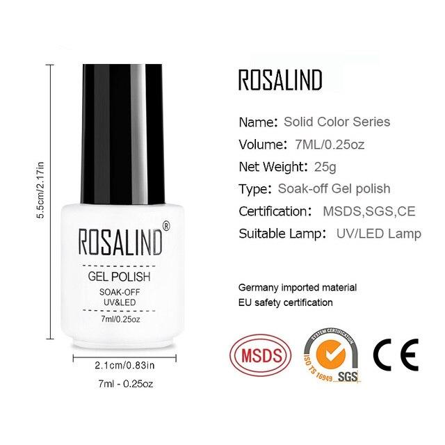 (12PCS/SET)ROSALIND Gel Nail Polish Set For Nail Extension Kit Nail Art Gel Lacquer UV LED Lamp Design acrylic nail Manicure Set 5