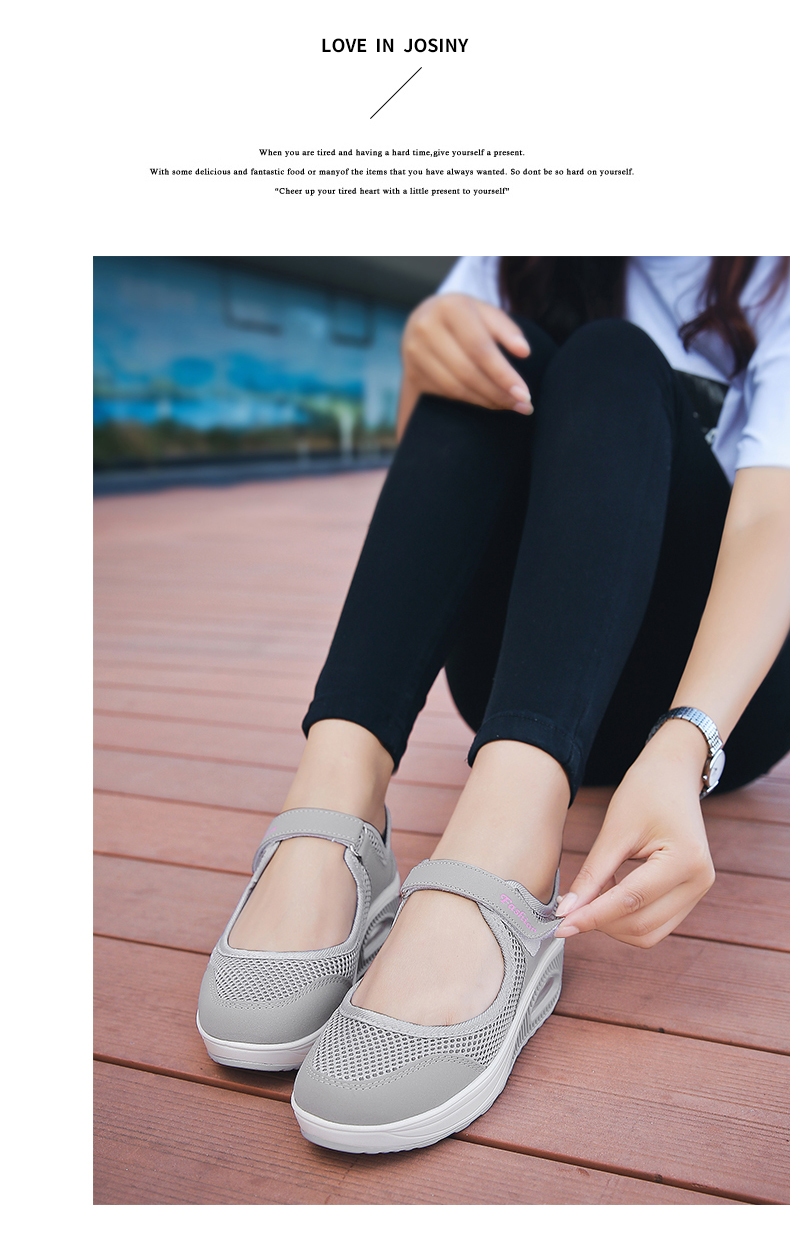 STS Brand 2019 New Fashion Women Sneakers Casual Air Cushion Hook & Loop Loafers Flat Shoes Women Breathable Mesh Mother`s Shoes (14)