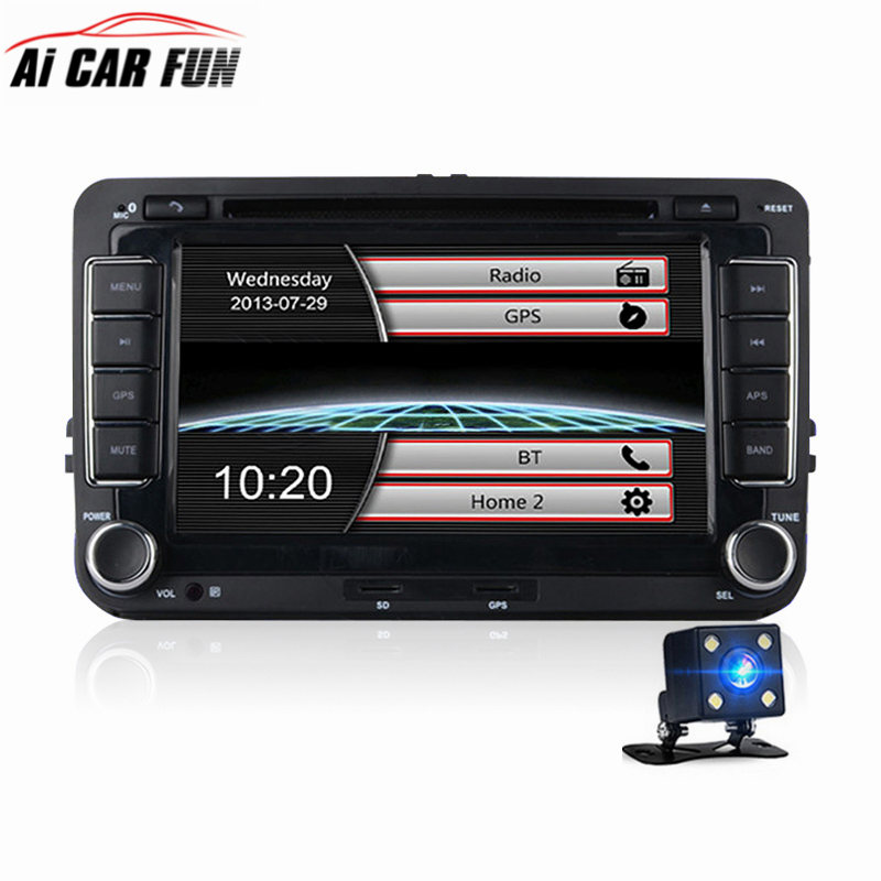 7 Inches 2 Din Car DVD GPS Navigation Radio Stereo Player for Volkswagen VW Golf 6 Touran Passat B7 Sharan Touran Polo Tiguan 7 inch android car dvd player radio gps stereo for volkswagen vw golf 6 touran passat b7 sharan touran polo tiguan seat leon