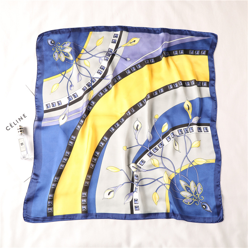 Women 39 s Square Silk Scarf Print Summer Shawls and Wraps Female Small Office Scarf Foulard Headband Handkerchief Bandana 70 70CM in Women 39 s Scarves from Apparel Accessories