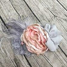Для девочек в цветочек повязка на голову Детские аксессуары для волос наряд для фотосессий