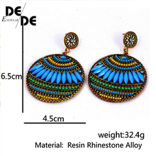Vintage Bohemia Drop Earrings For WOmen Resin Leaf Beaded Dangle Earring des boucles doreilles Fashion Jewelry Accessories