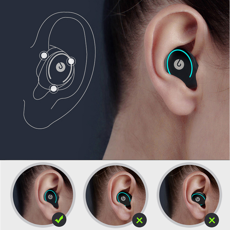Twins Wireless Bluetooth Earphone Handsfree Headset Double Earphones for android Wireless Earbuds with Charging Box For iphone