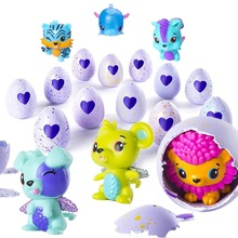 1 pcs Magia Hatching Eggs Action Figure Bonecas Animais de Estimação Dinossauro Ovo Animais Dos Desenhos Animados Mini Bolas de Surpresa Presente Toy Kids-aleatória