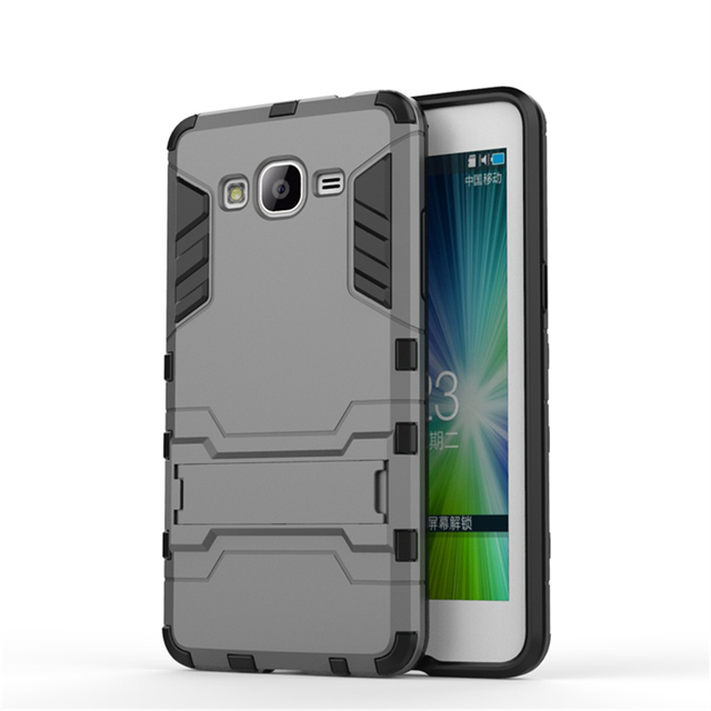 competitive price 1961d 47f64 For Samsung Galaxy Grand Prime Case G530 SM G530M Duos G530H G531H G531F  Case Silicone+Hard Shell Cover Hybrid Kickstand Case-in Half-wrapped Case  ...